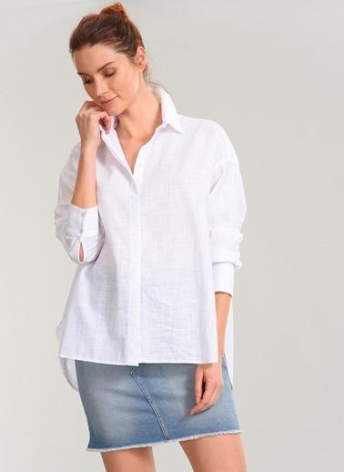 Keten Görünümlü Gömlek-People By Fabrika